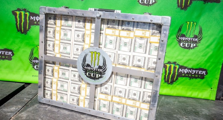 Monster Millions prize money image taken at the 2018 Monster Cup in Las Vegas Sam Boyd Stadium for Digital Social Use Only