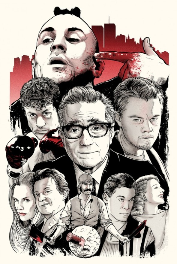 """Scorsese Collage"" by Joshua Budich complimentary signed and numbered 12"" x 18"" screen print available only to the first 100 attendees"