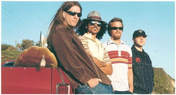 Fu Manchu [L to R] - Scott Hill, Bjork, Bob Balch, & Brad Davis