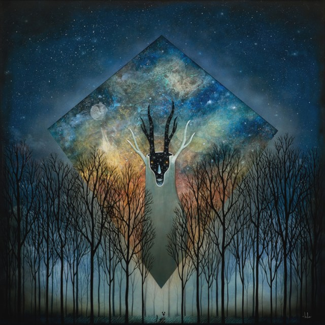 """Andy Kehoe Transdimensional Emissary 30"""" x 30"""" Oil, acrylic and resin in  cradled wood panel  $8,000"""