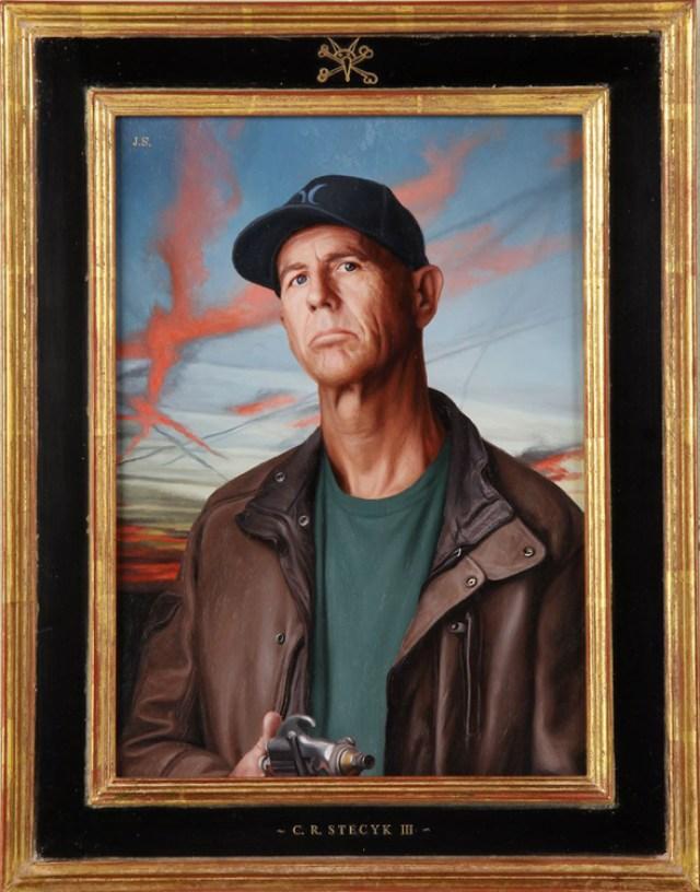 "Jon Swihart C.R. Stecyk  (Founders of Juxtapoz)  12"" x 9"" oil on panel $20,000"