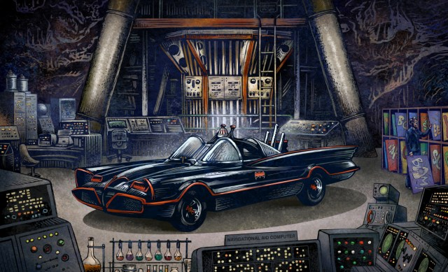 "Chet Phillips ""Batcave"" signed limited edition Giclee print run of 50"