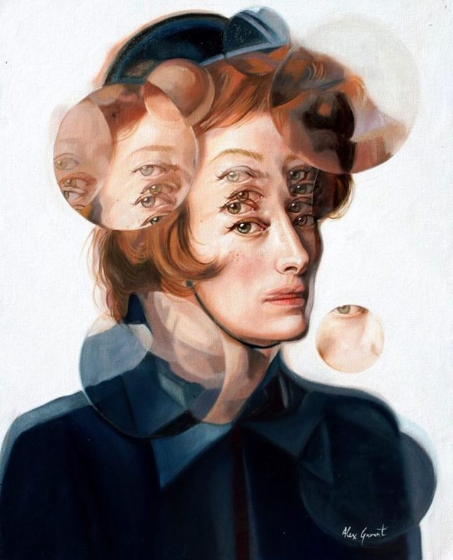 "Alex Garant ""Tilda Swinton is Social Services."" 16""x20"" Oil on Canvas"