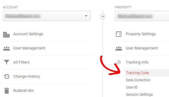 obtener el código de seguimiento de Google Analytics