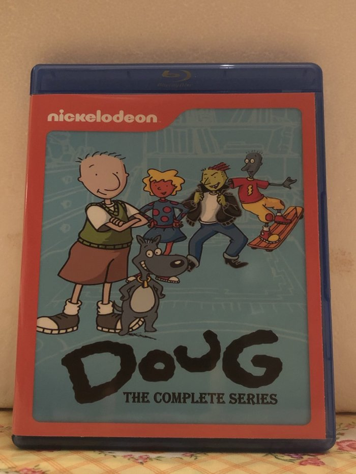 Nickelodeon Doug 4 Seasons with 52 Episodes on 4 Blu-ray Discs in 720p HD & Disney's Doug The Complete Series 3 Seasons 65 Episodes on 5 Blu-ray Discs plus Movie in 720p HD