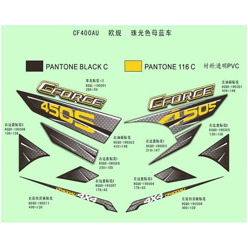 quad bleu cforce 450s