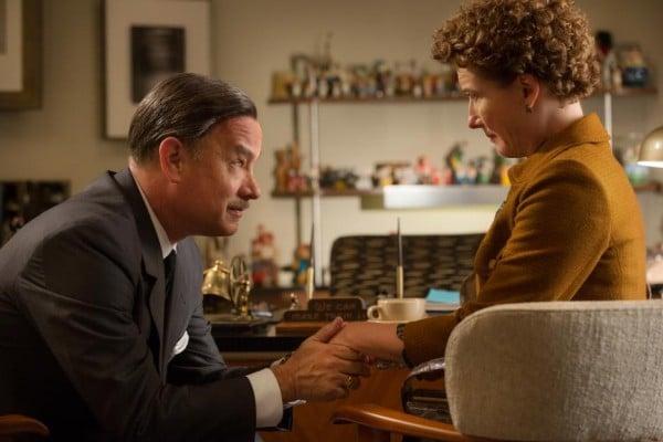 Tom Hanks and Emma Thompson in Saving Mr. Banks.
