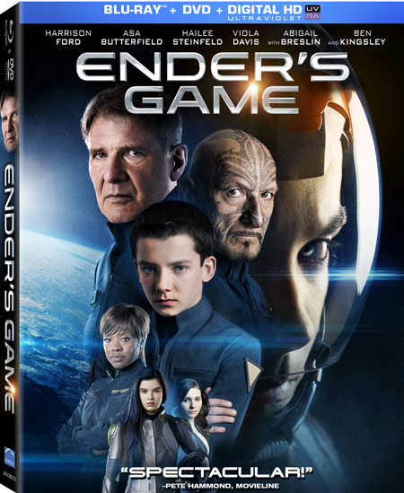 Ender's Game is the kind of sci-fi film that was made for Blu-ray's crystal clear picture and the visual effects really pop off the screen.