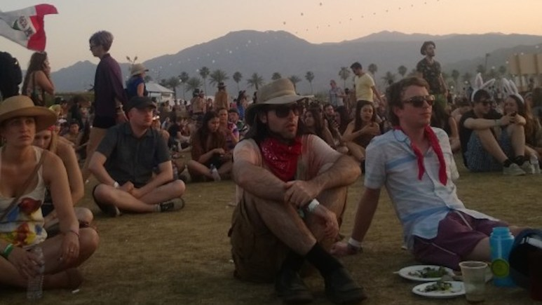 People enjoying Coachella