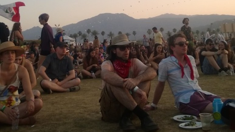 People enjoying Coachella