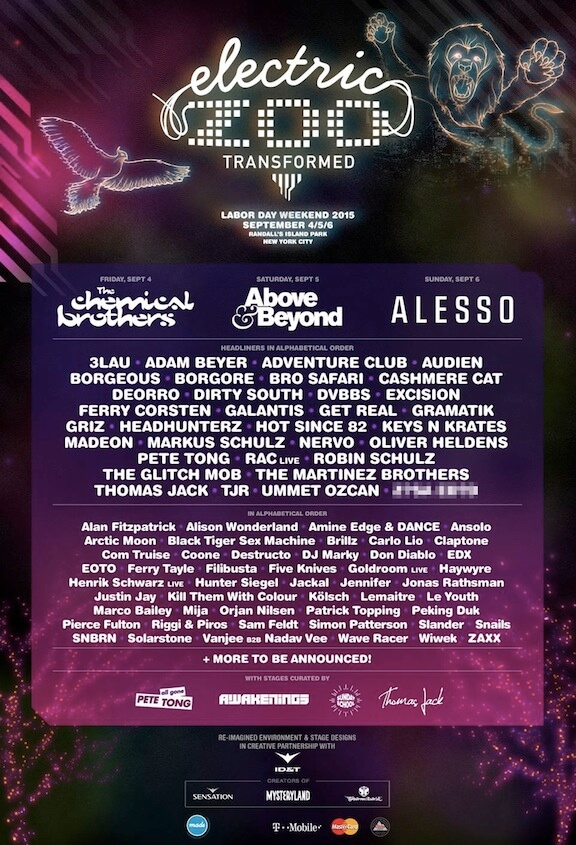 Ten Must See Acts of Electric Zoo: Transformed 2015