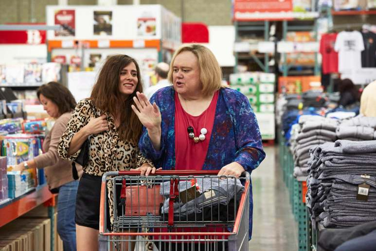 "BASKETS -- ""Uncle Dad"" Episode 105 (Airs Thursday, February 18, 10:00 pm/ep) Pictured: (l-r) Sabina Sciubba as Penelope, Louie Anderson as Christine Baskets. CR: Ben Cohen/FX"