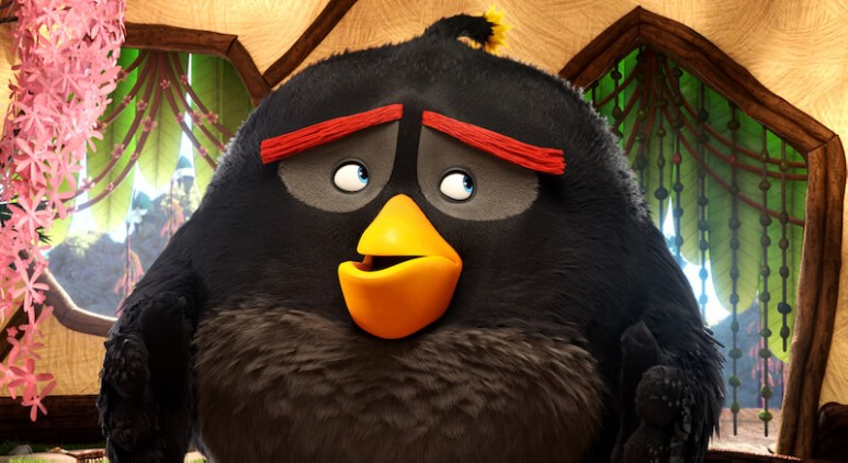 Bomb (Danny McBride) explains his explosive condition in Columbia Pictures and Rovio Animation's ANGRY BIRDS.
