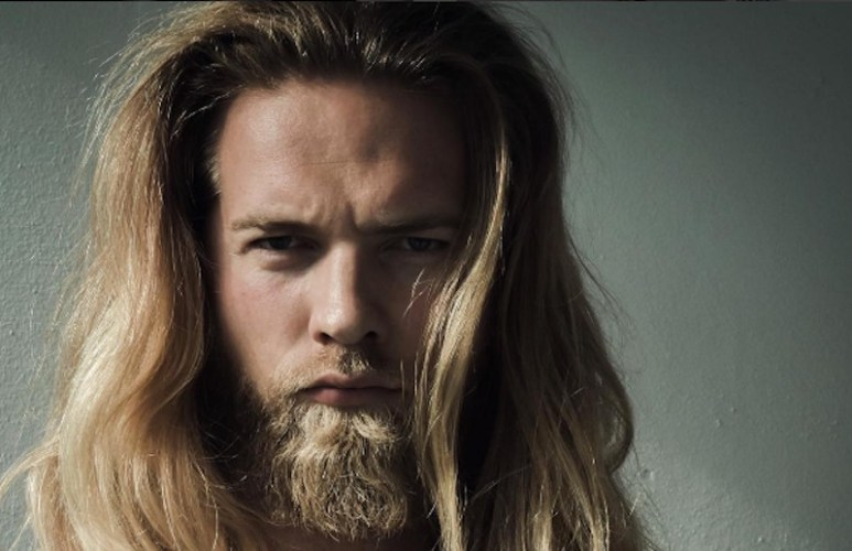 One of Lasse's brooding pics which has helped him become an overnight sensation on Instagram