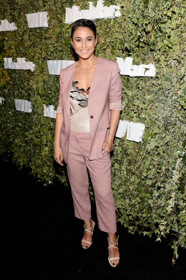 LOS ANGELES, CA - JUNE 14: Actress Emmanuelle Chriqui, wearing Max Mara, attends Max Mara Celebrates Natalie Dormer - The 2016 Women In Film Max Mara Face Of The Future at Chateau Marmont on June 14, 2016 in Los Angeles, California. (Photo by Stefanie Keenan/Getty Images for Max Mara)
