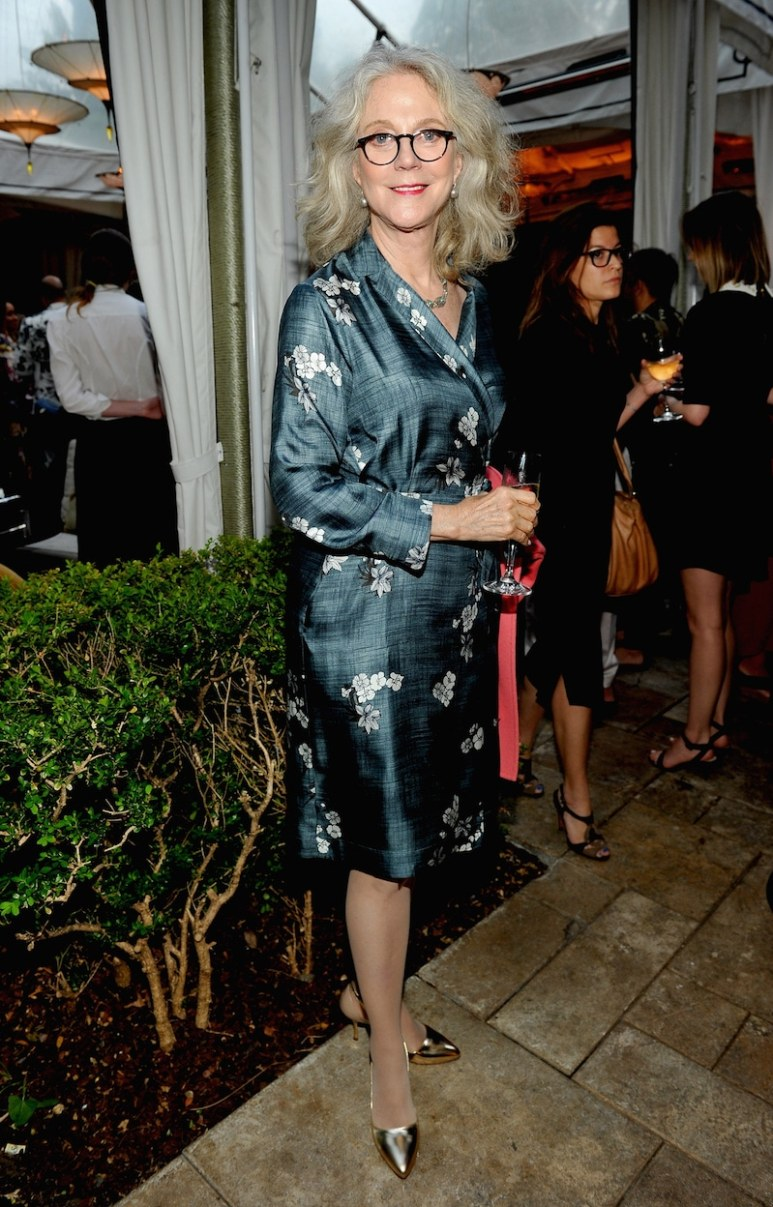 LOS ANGELES, CA - JUNE 14: Actress Blythe Danner, wearing Max Mara, attends Max Mara Celebrates Natalie Dormer - The 2016 Women In Film Max Mara Face Of The Future at Chateau Marmont on June 14, 2016 in Los Angeles, California. (Photo by Donato Sardella/Getty Images for Max Mara)
