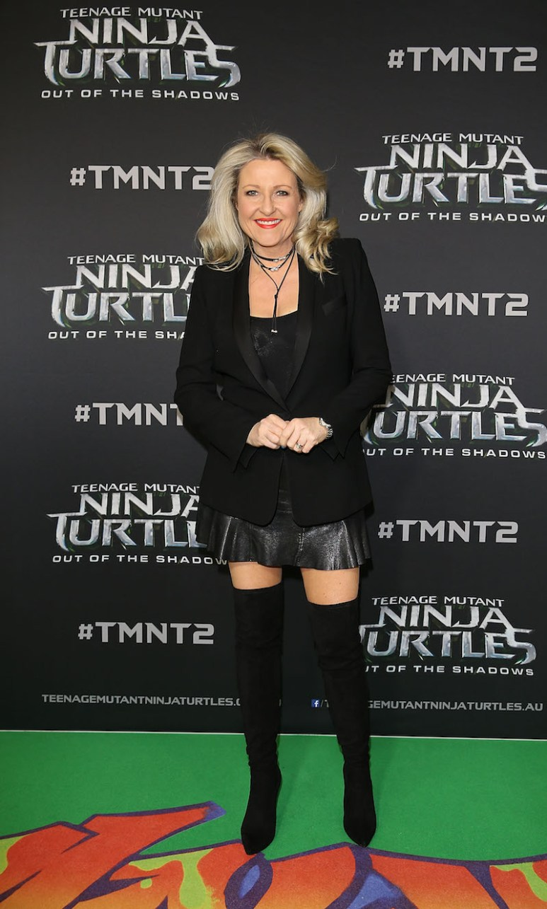 SYDNEY, AUSTRALIA - MAY 29: Angela Bishop arrives ahead of the Australian premiere of Teenage Mutant Ninja Turtles 2 at Event Cinemas George Street on May 29, 2016 in Sydney, Australia. (Photo by Caroline McCredie/Getty Images for Paramount Pictures) *** Local Caption *** Angela Bishop