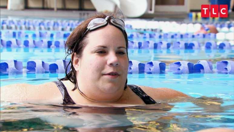 Whitney Thore swimming