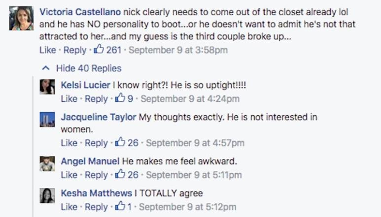 Some of the posts on FYI's Married At First Sight Facebook page