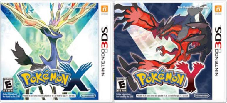 Pokemon X and Y boxes