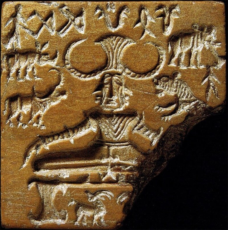 Thought to be a seal of an early Proto-Shiva