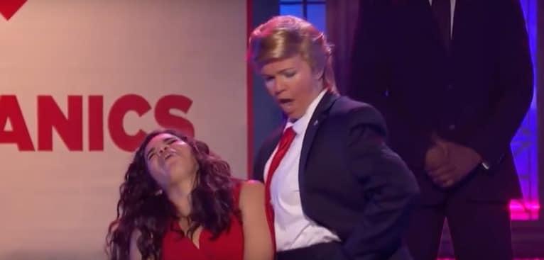America Ferrera vs. Amber Tamblyn as Donald Trump on Lip Sync Battle