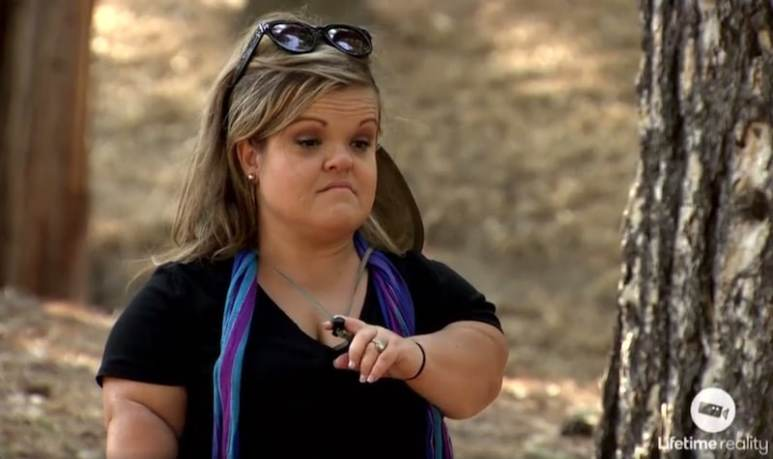 Christy gives Terra the evils during the survival camp on this week's Little Women: LA