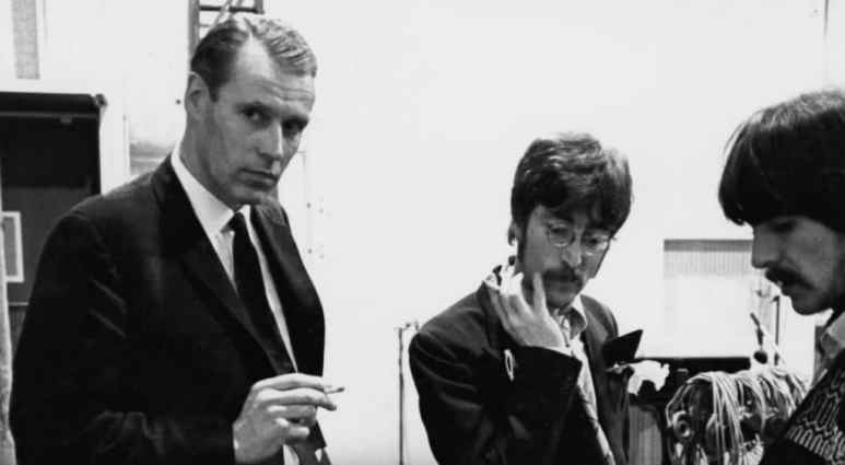 George Martin with the Beatles in Soundbreaking