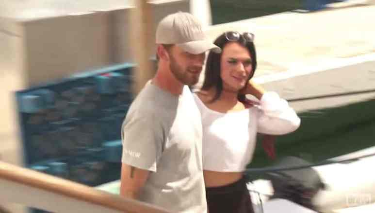Kyle and Ashley during her visit to see him on Below Deck