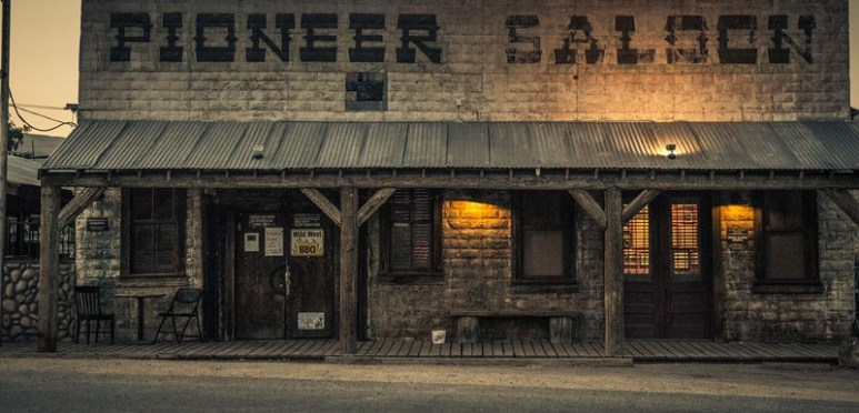 The outside of the reportedly haunted Pioneer Saloon