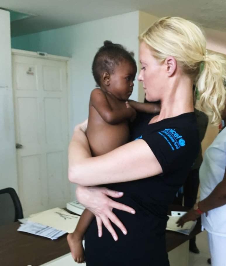 Sandra Lee UNICEF Haiti