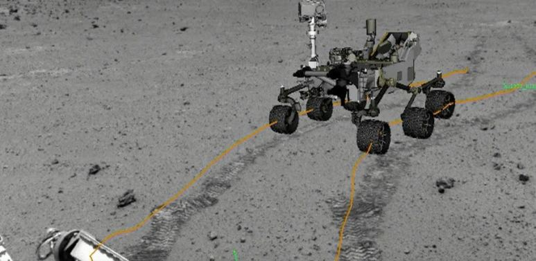 A course is mapped for the rover
