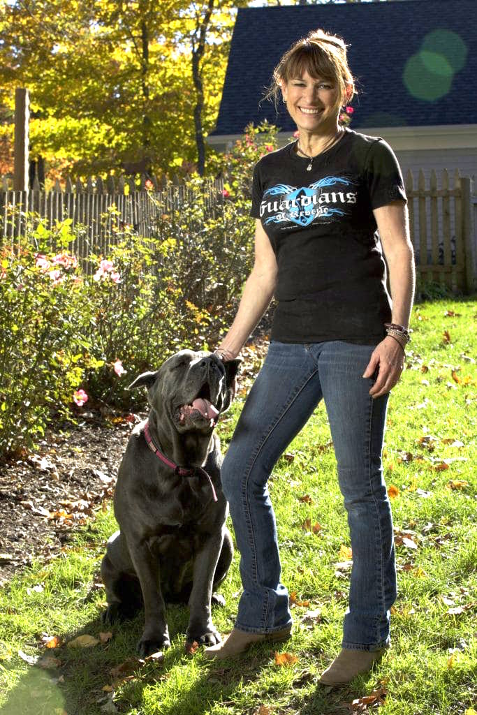 Dori, in her Guardians of Rescue t-shirt