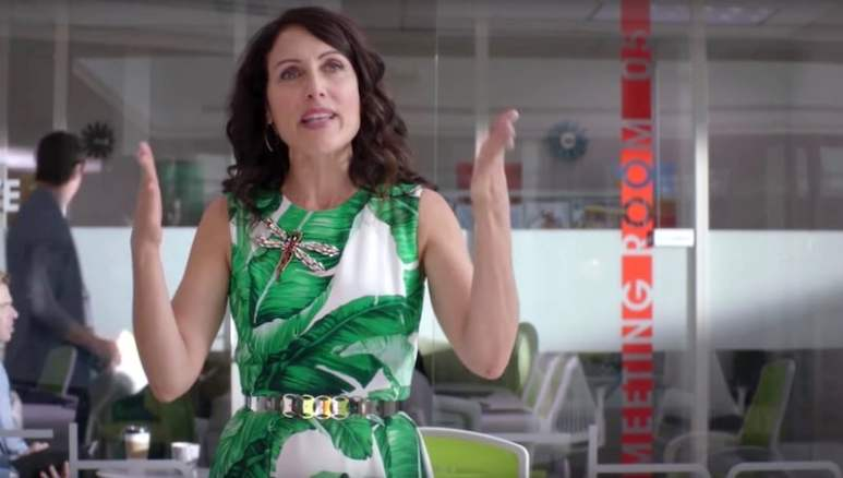 Abby makes her failed plea to keep her job at SheShe in the Girlfriends' Guide to Divorce premiere