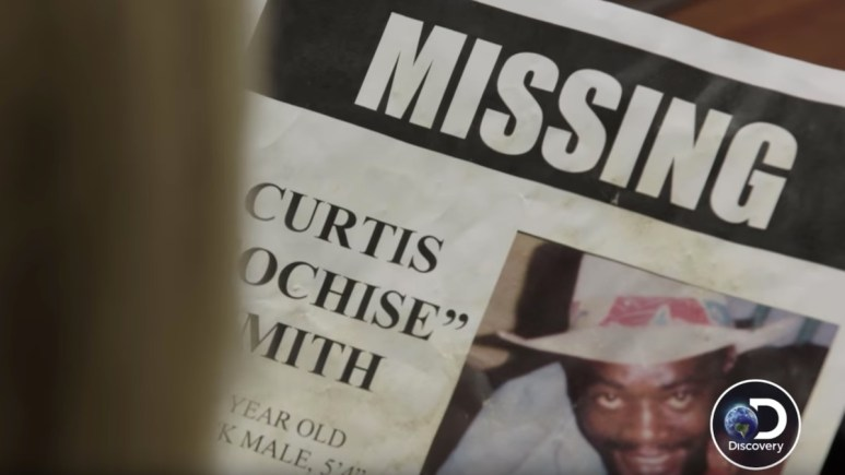 """A """"Missing"""" poster for Curtis """"Cochise"""" Smith"""