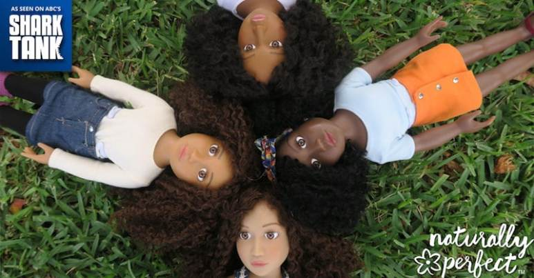 The range of Naturally Perfect Dolls