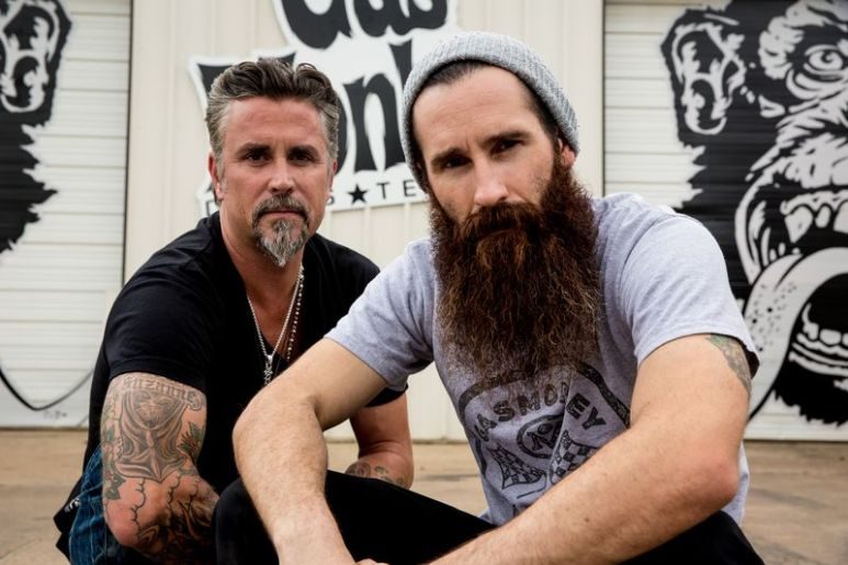Aaron with his long-time Gas Monkey Garage partner Richard Rawlings on Fast N' Loud