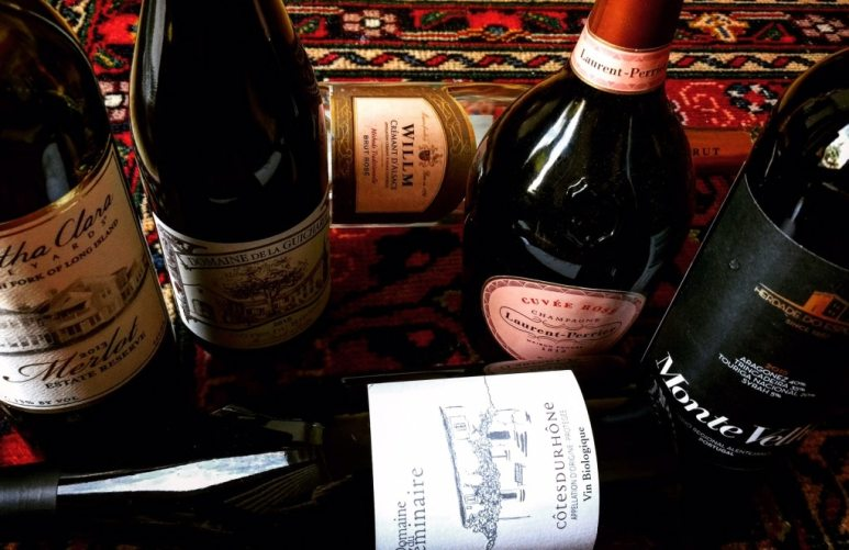 Selection of red wines