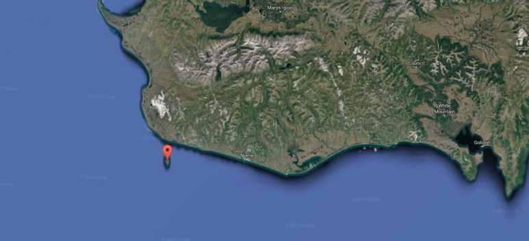 Sledge Island off the coast of Alaska