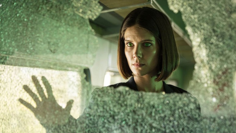Sonya Cassidy as synth Hester in Humans Season 2 on AMC
