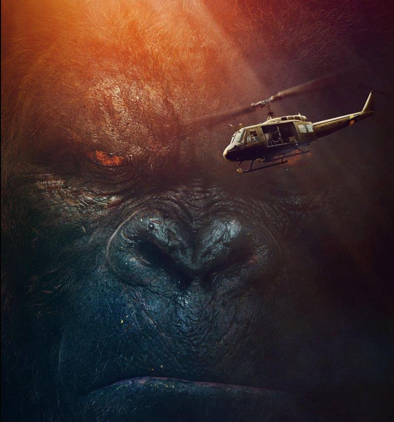 """Kong says to helicopter, """"Puny fly"""""""