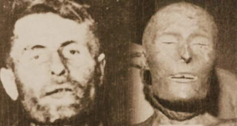 McCurdy after his death and his 'mummy' after several years