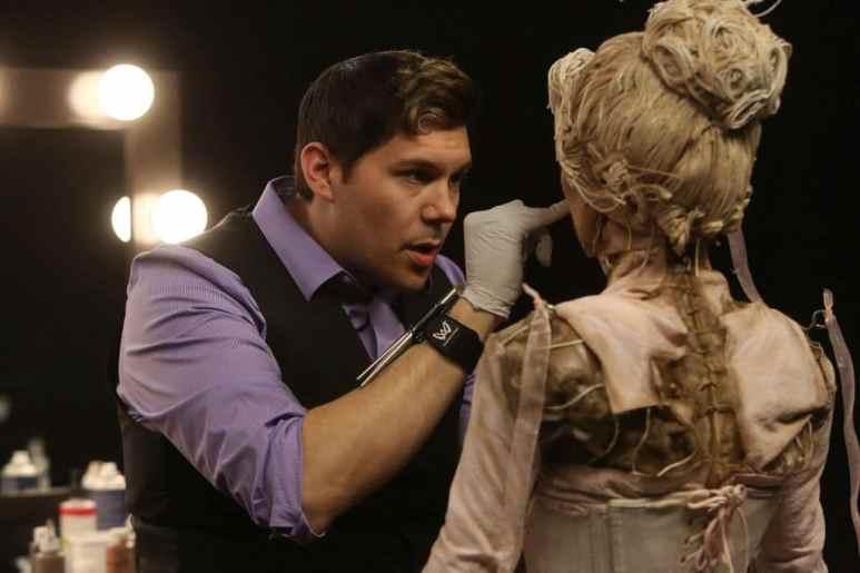 Tyler Green doing makeup