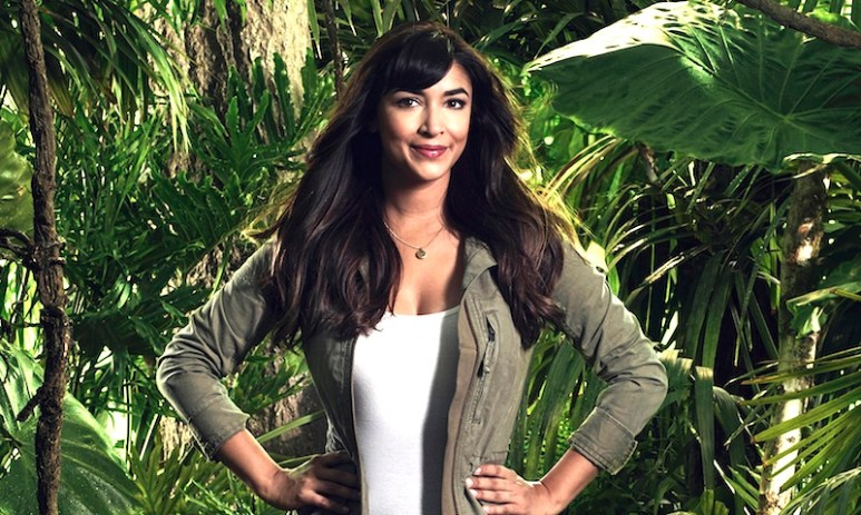 Hannah Simone in her promotional photo for FOX's reality competition series Kicking & Screaming