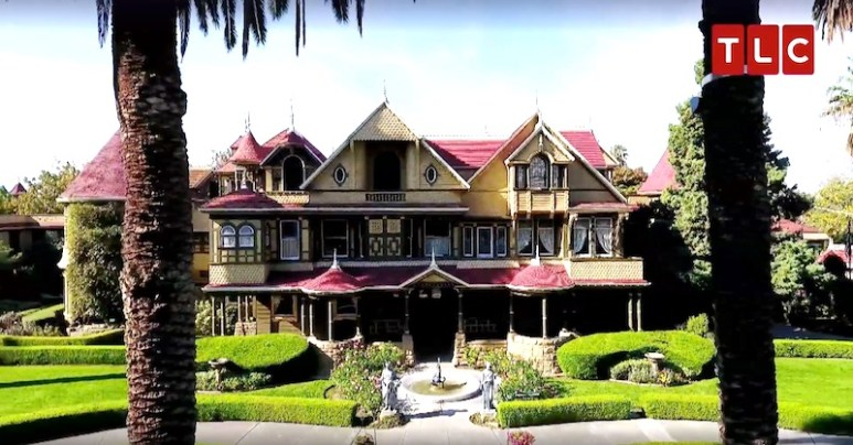 The Winchester Mystery House, which is said to contain the spirits of gun death victims