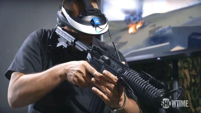 An Iraq War vet simulates combat to treat his PTSD on Showtime's new Dark Netseason