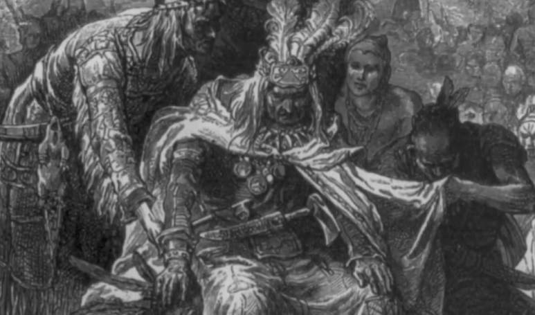 AIMS claim the Shawnee believe the Black Wolf is a sort of shepherd of the dead