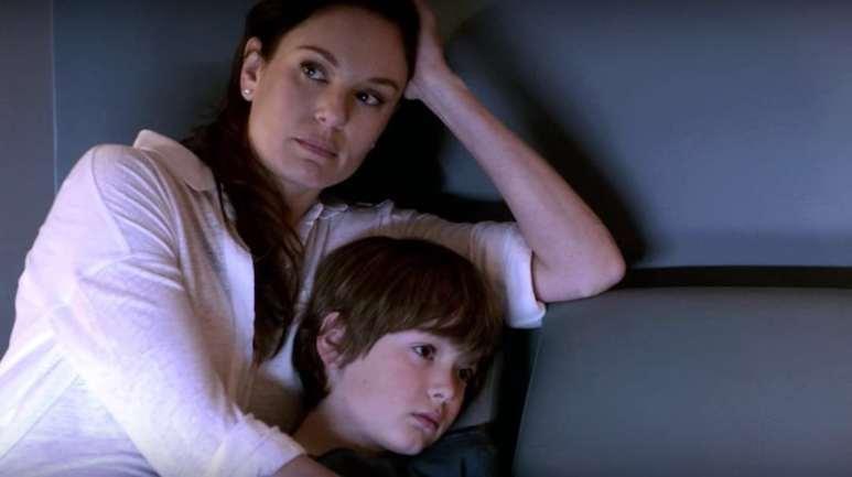 Christian Michael Cooper with onscreen mum Sarah Wayne Callies in Prison Break