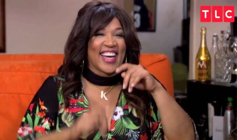 Kym Whitley laughs during her reading with Theresa Caputo on Long Island Medium