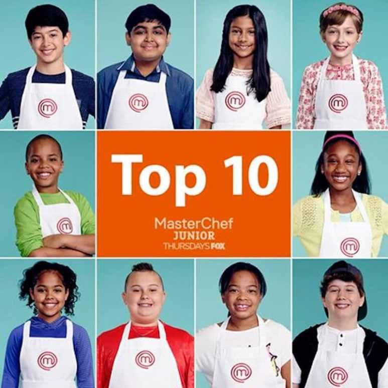 The top ten, clockwise from top left: Adam, Afnan, Avani, Cydney, Jasmine, Mark, Peyton, Shayne, Justise, and Evan